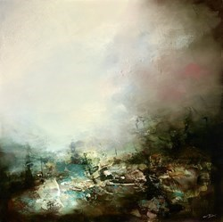 The Clearing II by Neil Nelson -  sized 36x35 inches. Available from Whitewall Galleries
